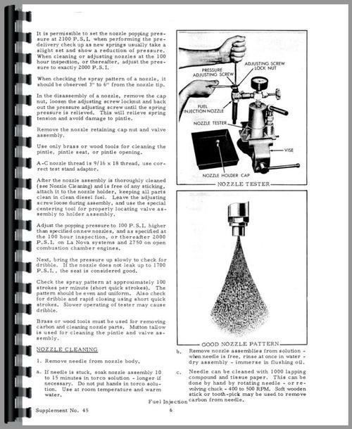 Allis Chalmers D17 Injection Pump Service Manual