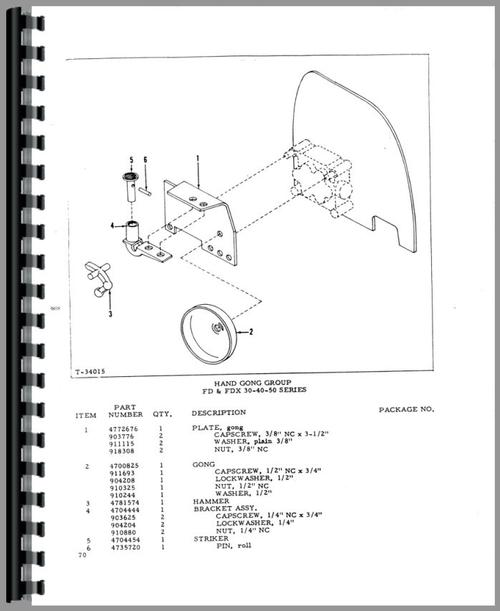 Allis Chalmers FL 40 Forklift Parts Manual