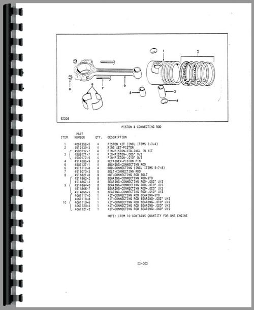 Allis Chalmers FP40-24 Forklift Parts Manual