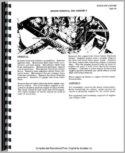 Allis Chalmers H3 Crawler Service Manual