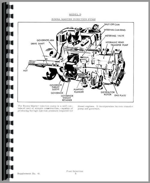 Allis Chalmers HD11 Injection Pump Service Manual