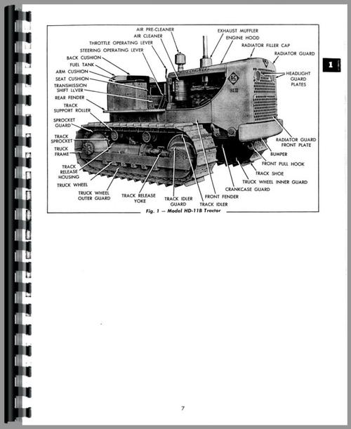 Allis Chalmers HD11G Crawler Service Manual