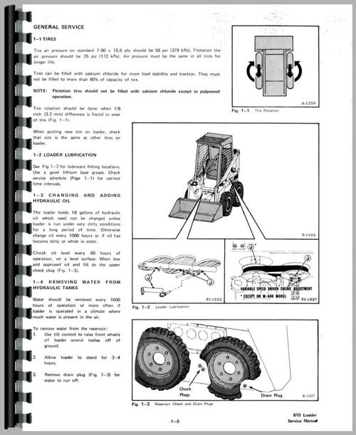 Bobcat 600 Skid Steer Loader Service Manual