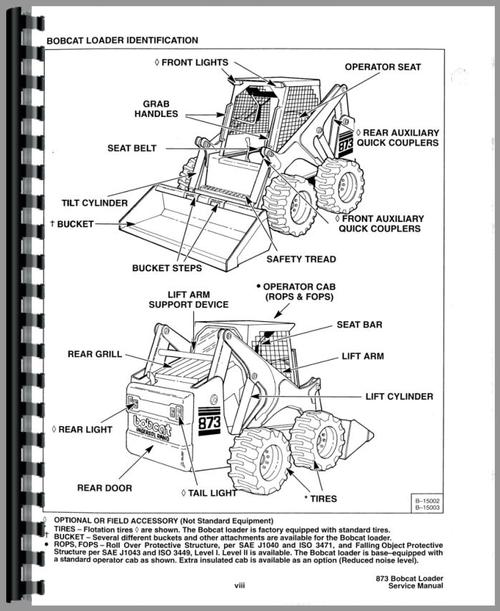 Bobcat 873 Skid Steer Loader Service Manual