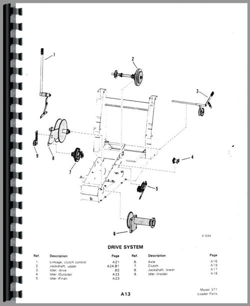 Bobcat M-371 Skid Steer Loader Parts Manual