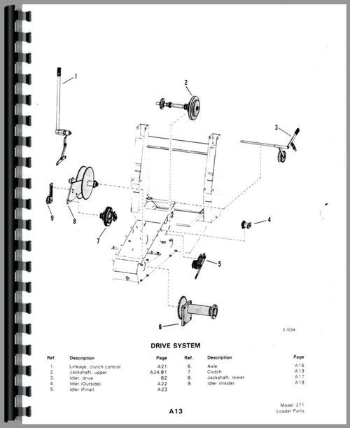 Bobcat M-500 Skid Steer Loader Parts Manual