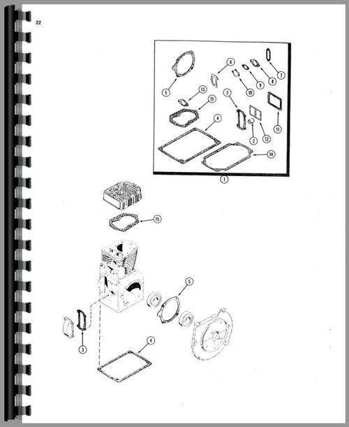 Case 222 Lawn & Garden Tractor Parts Manual