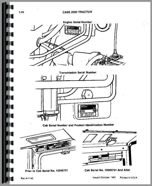 Case 2390 Tractor Parts Manual