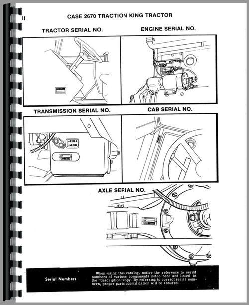 Case 2670 Tractor Parts Manual