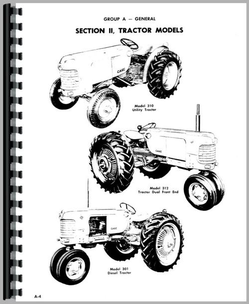 Case 311 Tractor Service Manual