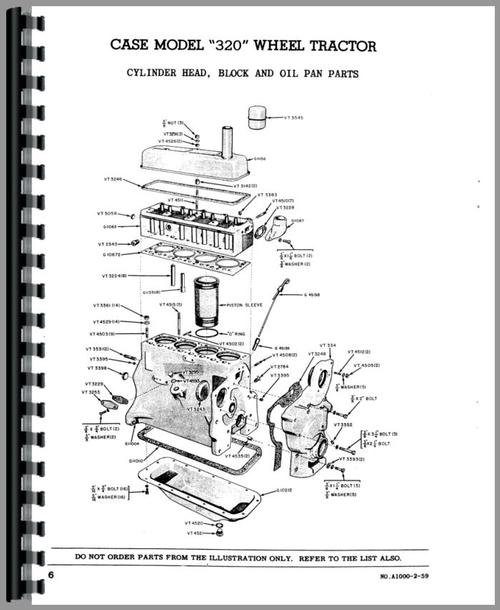Case 320 Industrial Tractor Parts Manual