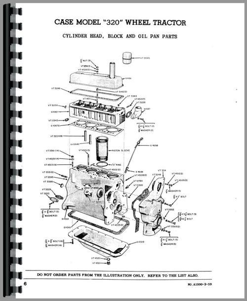 Case 320 Industrial Tractor Parts Manual