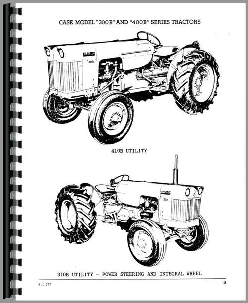 Case 410B Tractor Parts Manual