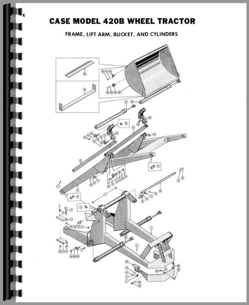Case 420B Backhoe & Loader Attachment Parts Manual