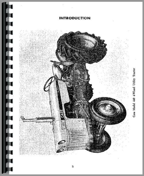 Case 430 Tractor Operators Manual
