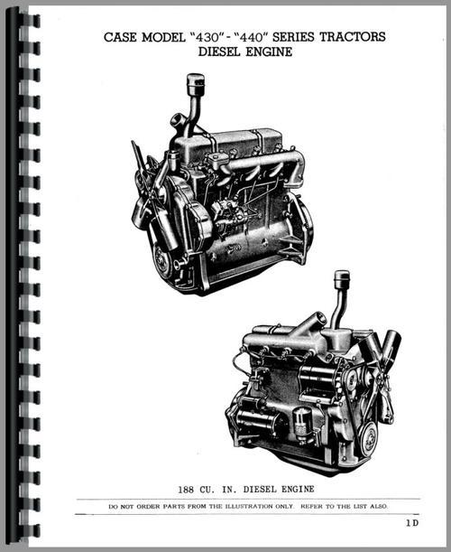 Case 440 Tractor Parts Manual