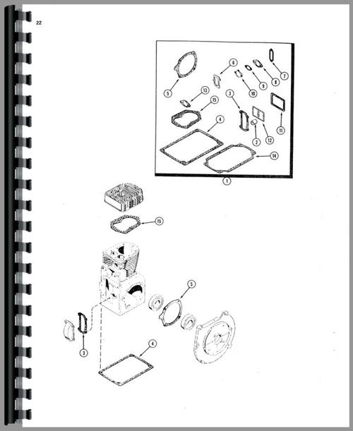 Case 444 Lawn & Garden Tractor Parts Manual