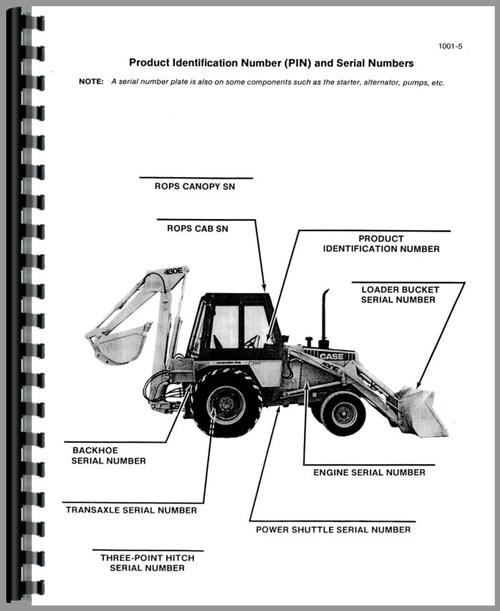 Case 480E Tractor Loader Backhoe Service Manual