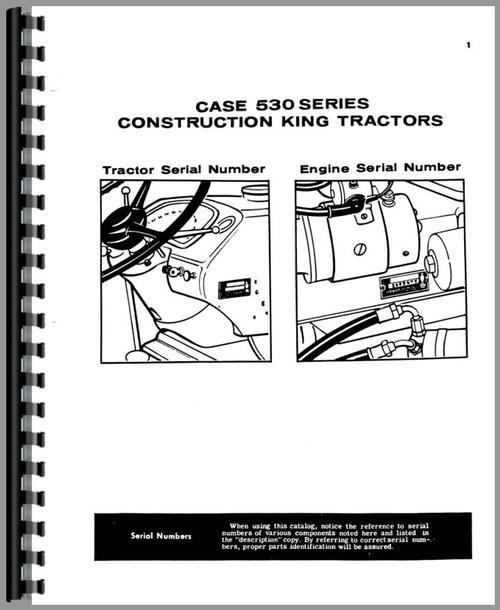 Case 530 Industrial Tractor Parts Manual