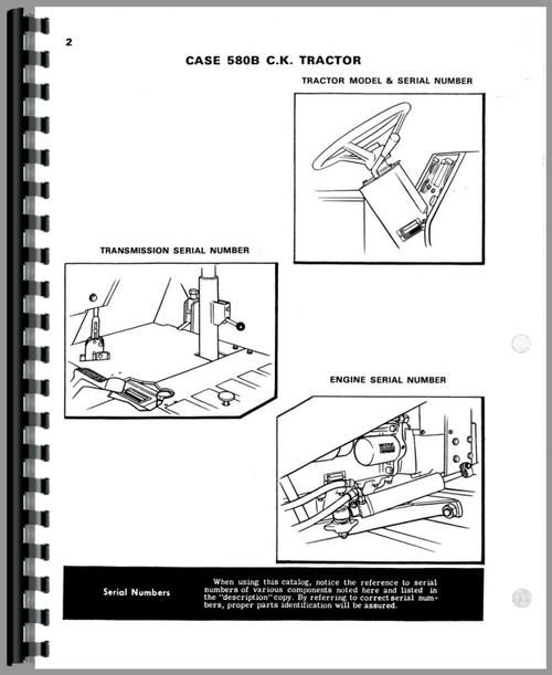 Case 580B Industrial Tractor Parts Manual
