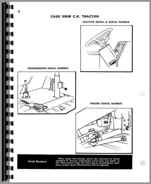 Case 580B Industrial Tractor Parts Manual