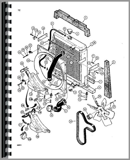 Case 580E Tractor Loader Backhoe Parts Manual