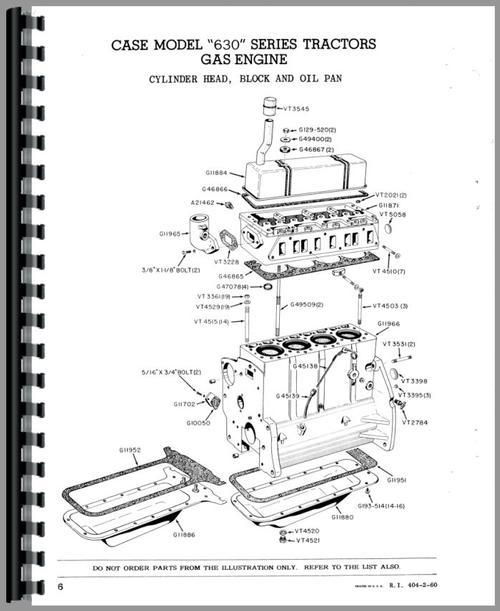 Case 630 Tractor Parts Manual
