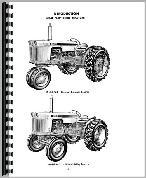 Case 630 Tractor Operators Manual
