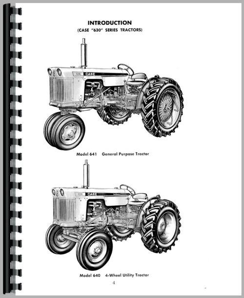 Case 631 Tractor Operators Manual