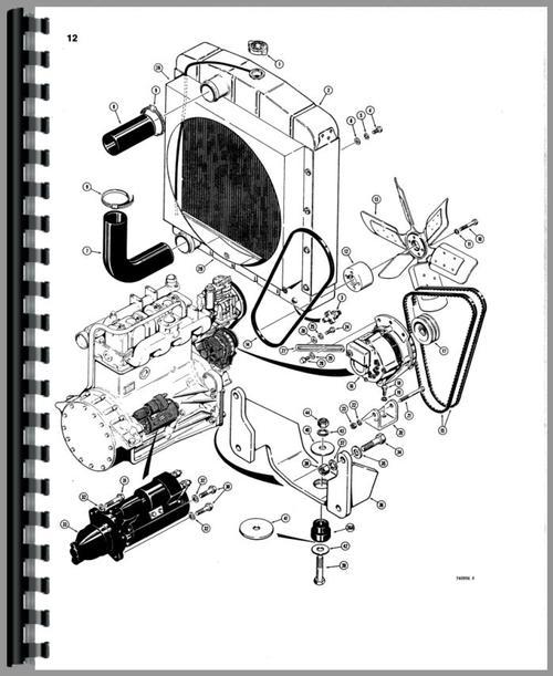Case 780 Tractor Loader Backhoe Parts Manual