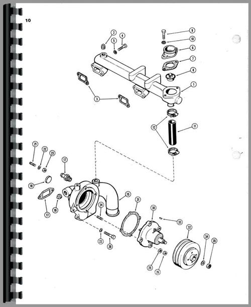 Case 850 Crawler Parts Manual