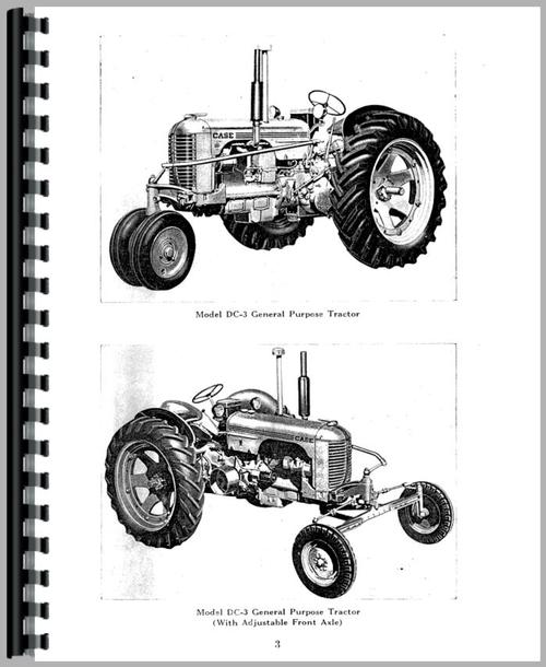 Case DC4 Tractor Operators Manual