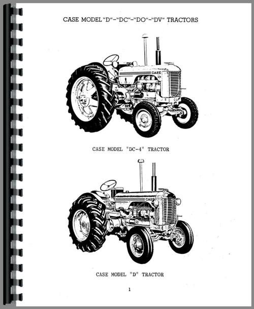Case DC4 Tractor Parts Manual