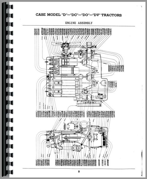 Case DO Tractor Parts Manual