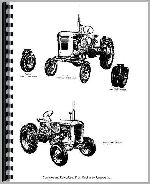 Case VA Tractor Parts Manual