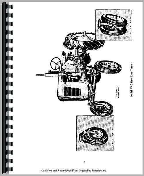 Case VAO Tractor Operators Manual
