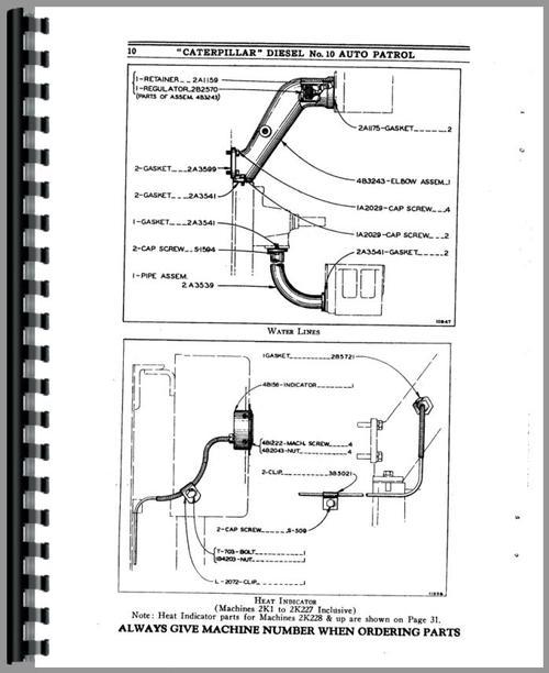 Caterpillar 10 Grader Parts Manual