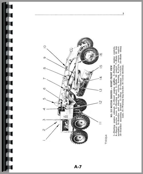 Caterpillar 212 Grader Operators Manual