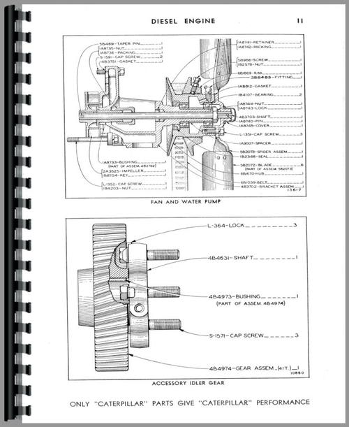 Caterpillar 212 Grader Parts Manual