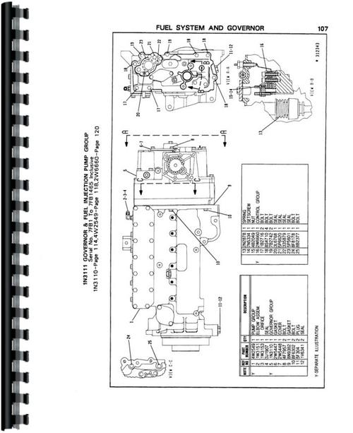 Caterpillar 3406B Engine Parts Manual