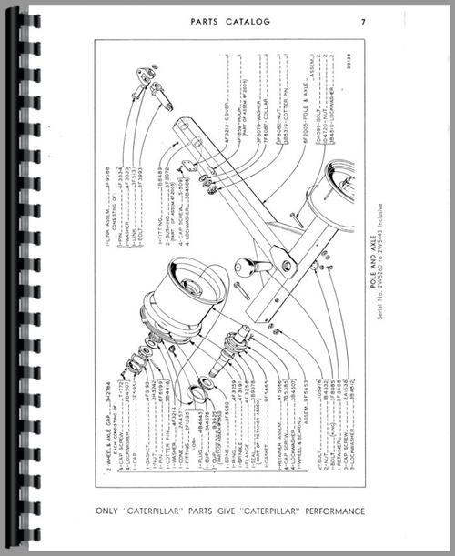 Caterpillar 60 Scraper Parts Manual