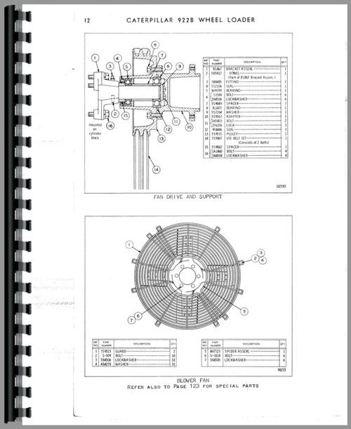 Caterpillar 922B Traxcavator Parts Manual