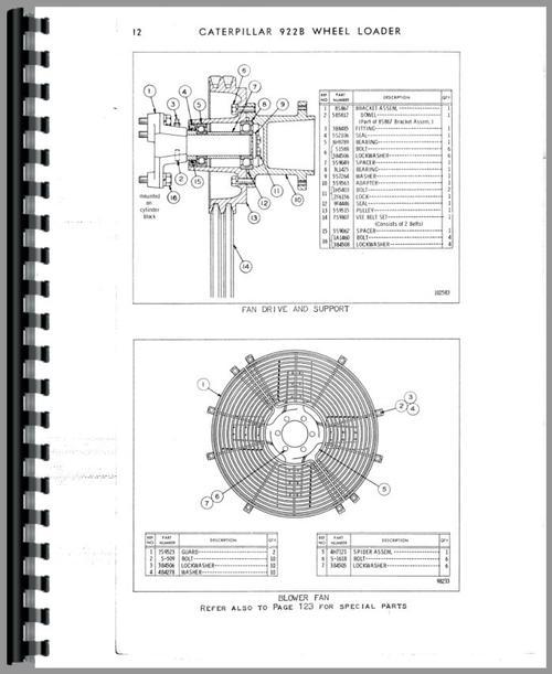 Caterpillar 922B Traxcavator Parts Manual