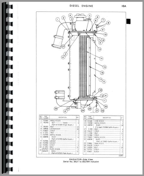 Caterpillar 951B Traxcavator Parts Manual