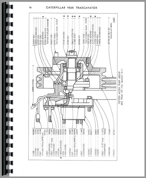 Caterpillar 955K Traxcavator Parts Manual