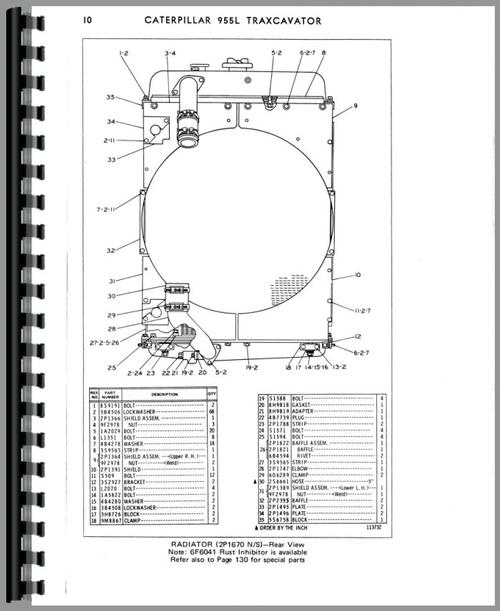 Caterpillar 955L Traxcavator Parts Manual