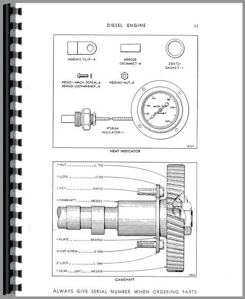 Caterpillar D2 Crawler Parts Manual