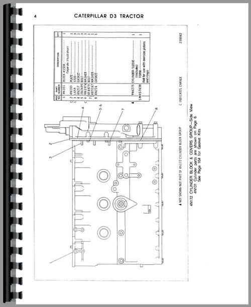 Caterpillar D3 Crawler Parts Manual
