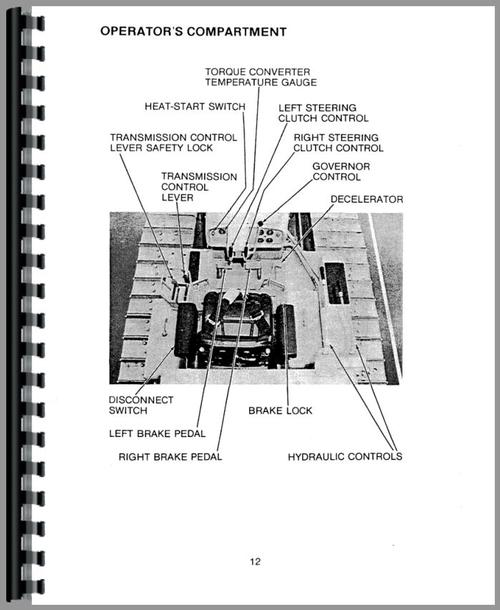 Caterpillar D4D Crawler Operators Manual