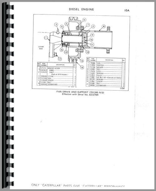 Caterpillar D4D Crawler Parts Manual